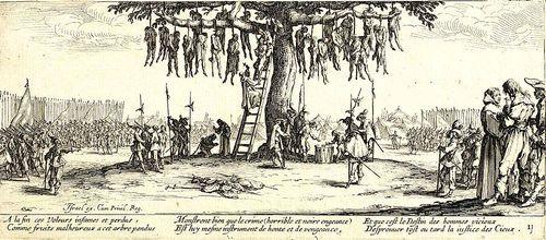 Der Galgenbaum - Jacques Callot 1632