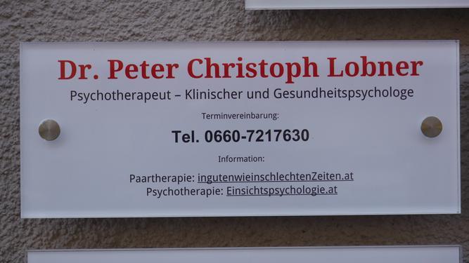 Praxisschild Dr. Lobner